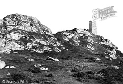 Brentor, Brent Tor And Church Of St Michael De Rupe c.1872, North Brentor
