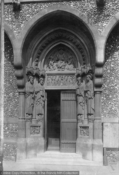 Brentwood, St Thomas Of Canterbury Church, West Door 1905