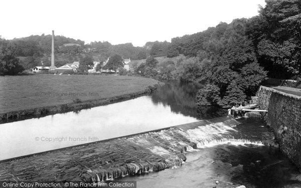 Photo of Bridge of Allan, view from Bridge 1899