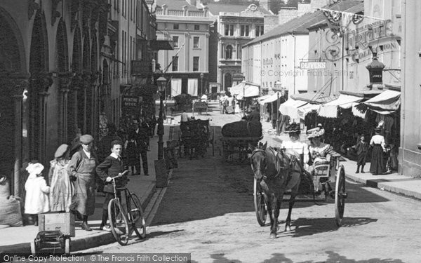 Bridgend, Horse And Cart, Caroline Street 1901