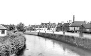Bridgend, Hospital And River c.1960