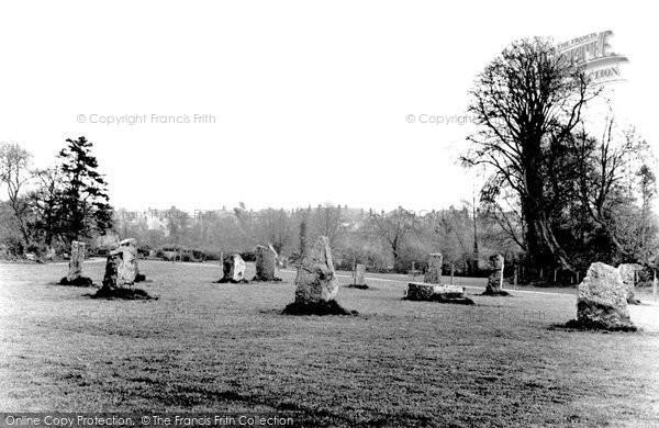 Bridgend, Newbridge Fields, The Gorsedd Stones c.1955