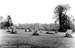 Newbridge Fields, The Gorsedd Stones c.1955, Bridgend