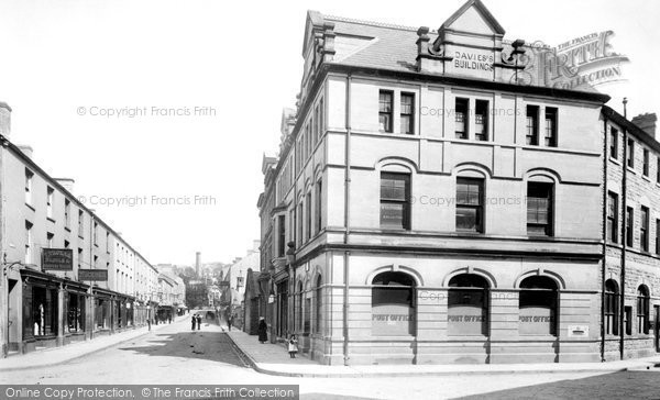 Bridgend, Post Office and Caroline Street 1899
