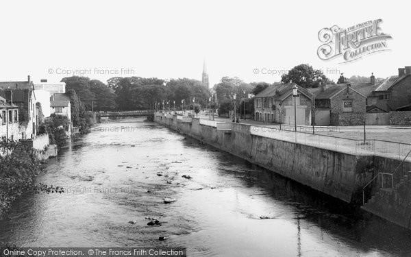 Bridgend, River Ewenny c.1965