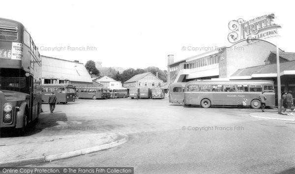 Photo of Bridgend, the Bus Station c1960