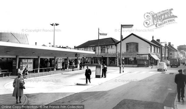 Bridgend, the Bus Station c1965