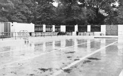 Bridgend, The Public Swimming Pool c.1955