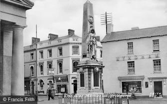 Bridgend, the War Memorial c1955