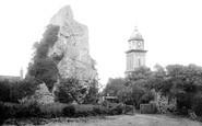 Bridgnorth, Castle and St Mary's Church 1896