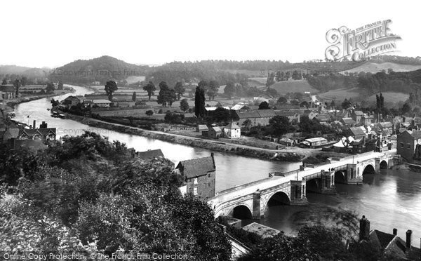 Bridgnorth, from Castle Walk 1898