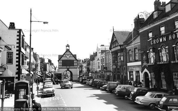 Bridgnorth, High Town And Town Hall 1964