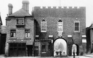 Bridgnorth, North Gate and Fire Station 1896