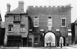 Bridgnorth, North Gate And Fire Station 1896