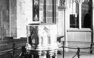 Bridgnorth, St Leonard's Church Font 1896
