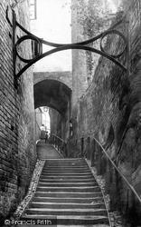 Bridgnorth, Stoneway Steps 1896