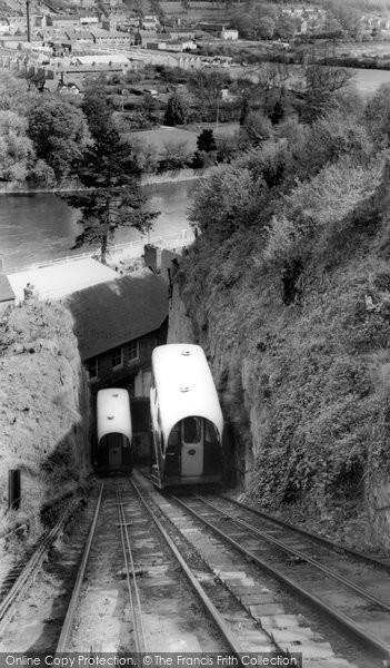 Bridgnorth, The Cable Lift c.1965