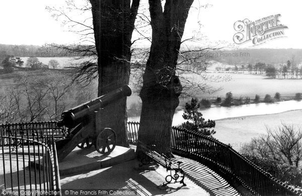 Photo of Bridgnorth, the Severn Valley from Castle Hill c1950