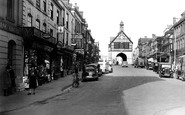 Bridgnorth, The Town Hall And High Street c.1950