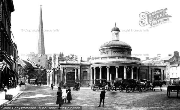 Bridgwater, Market And St Mary's Church 1890