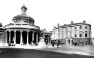 Bridgwater, The Market And The Royal Clarence Hotel 1902