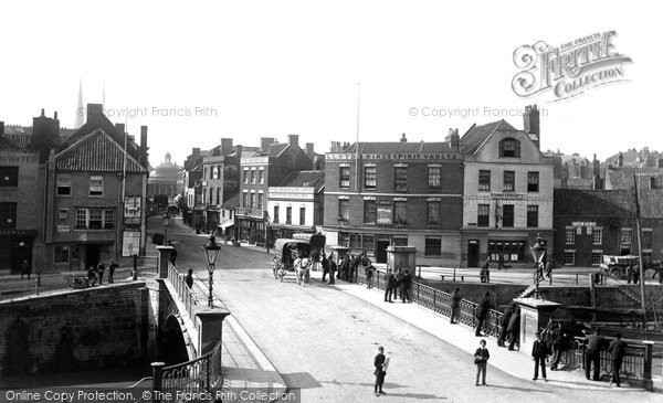 Bridgwater, View Across Bridge 1890