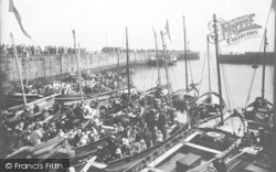 Bridlington, Boats In The Harbour 1923