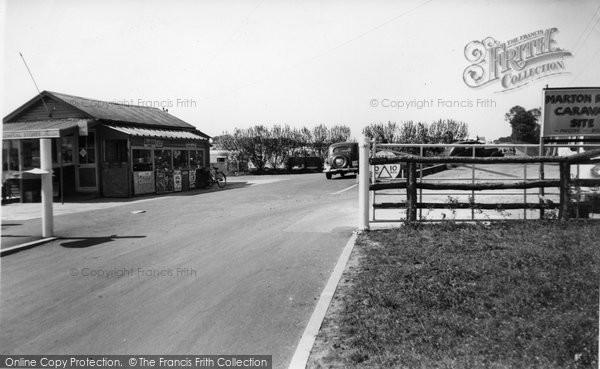 Bridlington, Marton Road Caravan Site Entrance c.1955