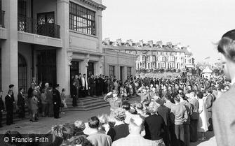 Bridlington, Military Parade, Salute c1955