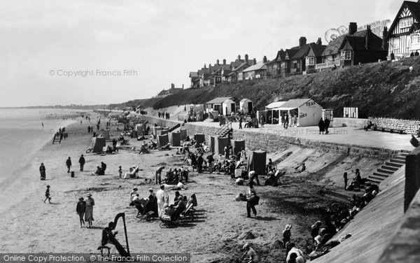 Bridlington, South Sands And Cliff c.1933