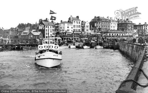 Bridlington, The Harbour And Boys' Own 1954