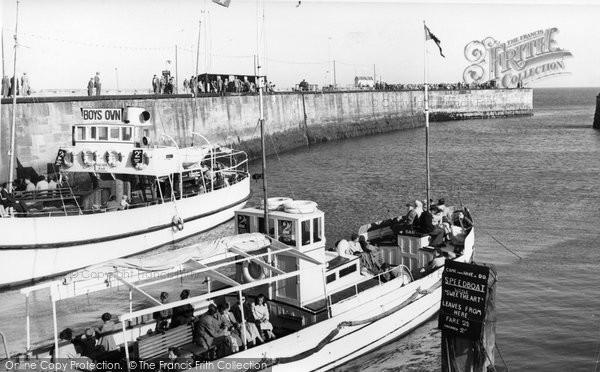Bridlington, The Harbour c.1955