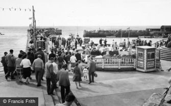Bridlington, the North Pier c1960