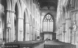 Bridlington, The Priory Church, Nave East c.1885