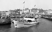 Bridlington, Yorkshire Belle Leaving The Harbour c.1960