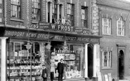 Bridport, W.Frost Shop Front, West Street 1909
