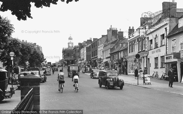 Bridport, West Street 1954