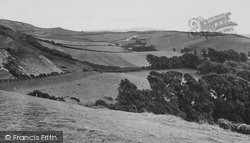Brighstone, View From Brightstone Down c.1955