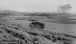 Brighstone, View From Brightstone Down c.1960
