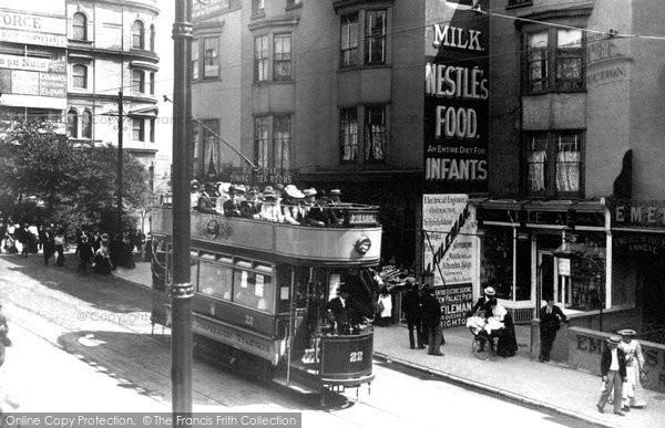 Brighton, A Tram In Queen's Road c.1902