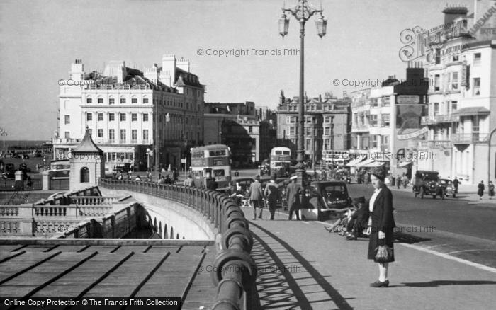 Photo of Brighton, Aquarium Roundabout From East c.1950