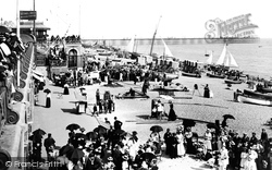 Brighton, Beach And Palace Pier 1898