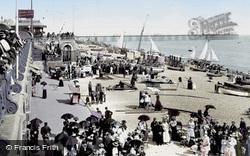 Brighton, Beach And Palace Pier 1898