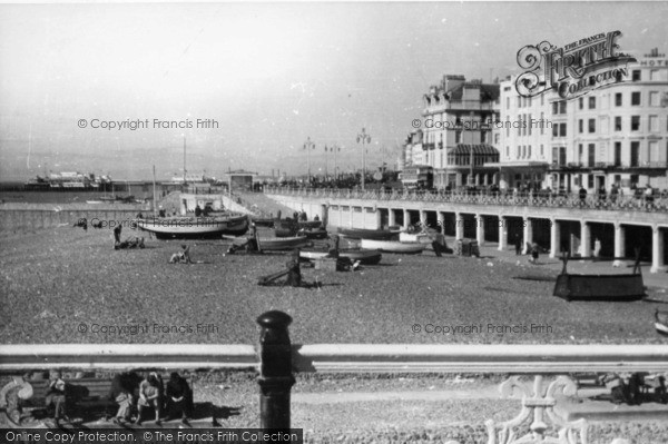 Photo of Brighton, Beach East From Pier c.1950