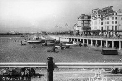 Brighton, Beach East From Pier c.1950