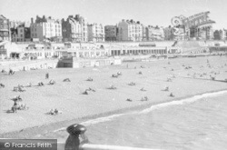 Brighton, Beach West From Pier c.1950