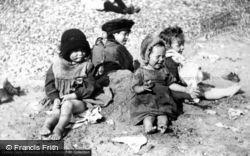 Brighton, Children On The Beach c.1896