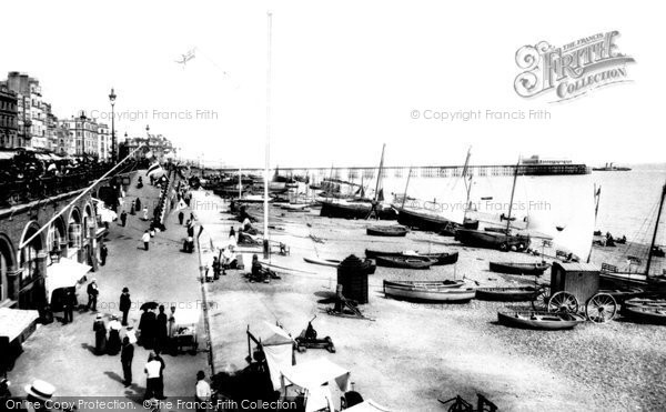 Brighton, King's Road And Palace Pier 1902