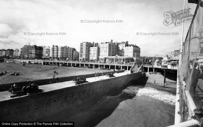 Photo of Brighton, Looking West From The Pier c.1955