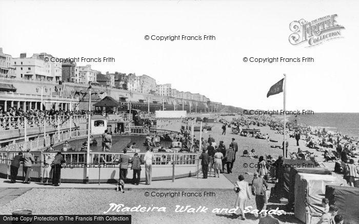 Photo of Brighton, Madeira Walk And Sands c.1955